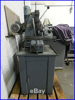 Barker AM Horizontal Milling Machine With Heavy Duty Cabinet & 5C Collet Fixture