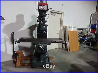 Birmingham BRV3949 3HP Vertical Miling Machine 49 Table, 3 HP Spindle, 220v