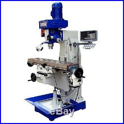 Bolton Tools 10 x 48 Milling Machine Vertical Style Power Feed DRO ZX1048PD