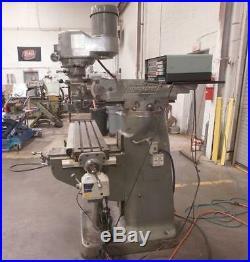 Bridgeport 1J Vertical Milling Machine, With Acu-Rite II 2 Axis DRO