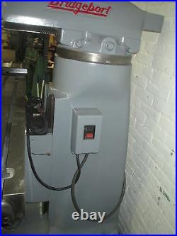 Bridgeport 1-1/2 HP BR2J Ram Type Turret Milling Machine Power Feed Table