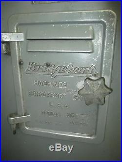 Bridgeport 1-1/2 HP BR2J Variable Speed Vertical Turret Milling Machine, Pwr Fd