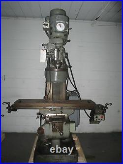 Bridgeport 1 1/2 HP Vari-Speed Vertical Milling Machine BR2J Riser, PWR FD