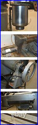 Bridgeport 2J 48 Vertical Knee Milling Machine CNC Vari-Speed Q-Trvl5 AutoFed