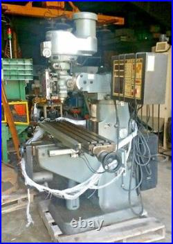 Bridgeport 2 Hp CNC Vertical Knee mill 10x50 table withAnilam 3-Axis Controller