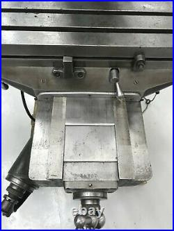Bridgeport J Head Milling Machine, 1HP, 9-42 Table, Fully Cleaned and Restored