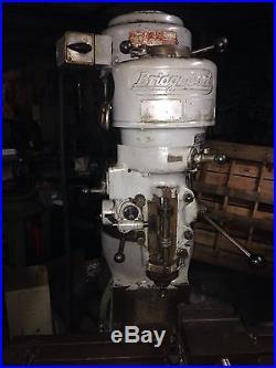 Bridgeport J Head Milling Machine. Works Well