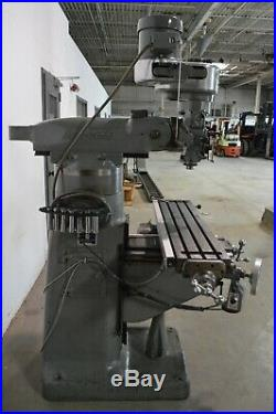Bridgeport J-Head Step Pulley Vertical Milling Machine With Newall 2 Axis Dro