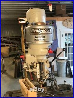 Bridgeport J-head Milling Machine 3/4 HP single phase 220v