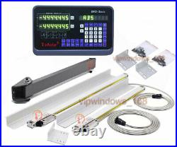 Bridgeport Mill 2Axis Digital Readout DRO Display Linear Glass Scale 2501000mm