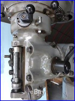 Bridgeport Mill 2HP Vari Speed 48 Table Chrome Ways R8 Spindle Ref 040