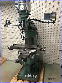 Bridgeport Milling Machine 36 Table, and DRO