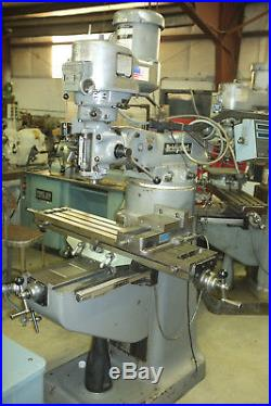 Bridgeport Milling Machine 42Table, 2hp, Vari Speed Acu-Rite DRO chrome ways