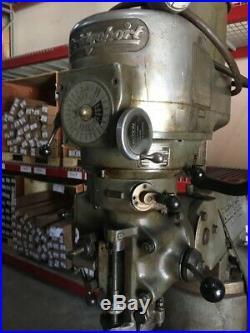 Bridgeport Milling Machine 42 Table, 1 1/2 Horsepower
