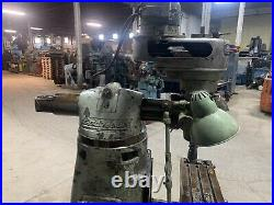 Bridgeport Milling Machine 9 X 36 Table, TOOLING, POWER FEED, J HEAD