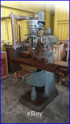 Bridgeport Milling Machine 9x42 Table 1-hp