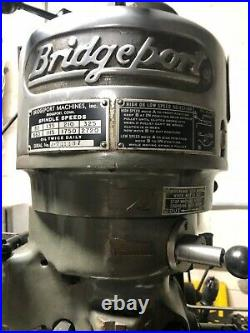 Bridgeport Milling Machine J Series 201397