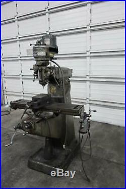 Bridgeport Milling Machine Step Pulley, 9 x 42 Table, Servo Power Feed, Vise
