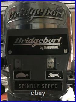 Bridgeport Milling Machine with 42Table & 2hp Vari Speed Head, Kurt Vise, & DRO