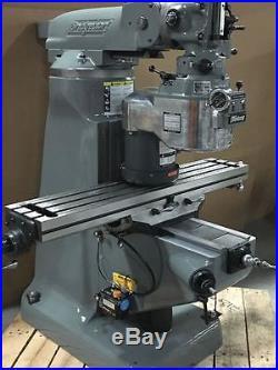 Bridgeport Milling Machine with 48 Table & 2hp Vari Speed Head, 1 Year Warranty
