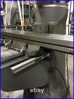 Bridgeport Series 1 Milling Machine 9x48 Table. Power Table Feed. Acu Rite DRO