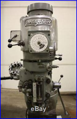 Bridgeport Series I, 1-1/2 HP Dovetial Overarm Vertical Milling Machine