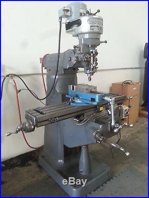 Bridgeport Series I 9 X 42, 2HP Dovetail Overarm Vertical Milling Machine