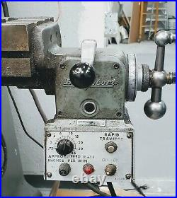 Bridgeport Series I MILL For Sale with Bridgeport Power Feed NO RESERVE