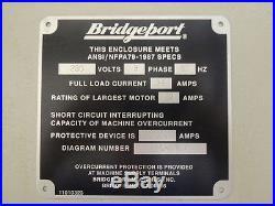 Bridgeport VMC 3020 Vertical Machining Center CNC Milling Machine Mill