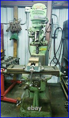 Bridgeport Vertical Knee Mill 10 X 44 T-SLOTTED TABLE, SPINDLE SPEEDS 80-2720