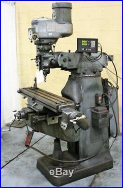 Bridgeport Vertical Mill Milling Machine 1.5 HP Power Feeds (#27197)