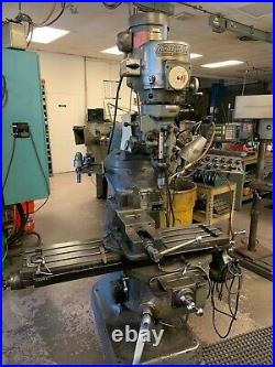 Bridgeport Vertical Mill Milling Machine 1.5 HP withDRO, 42 x 9 Table
