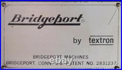 Bridgeport Vertical Mill Milling Machine 9 x 42 Digital Read Out