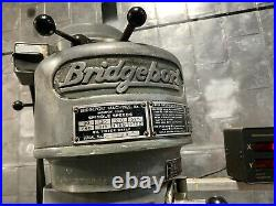 Bridgeport Vertical Mill Milling Machine 9 x 42 Digital Read Out Power Feed