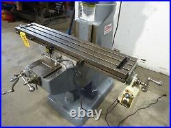 Bridgeport Vertical Mill Series I, 9 x 48 PF Tbl, 1-1/2 HP, Clean (30975)