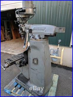 Bridgeport Vertical Milling Machine 1 HP 9 x 42 Mitutoyo DRO