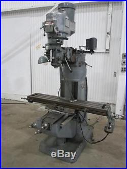 Bridgeport Vertical Milling Machine 9 x 48 1.5HP Series 1 Used AM14222