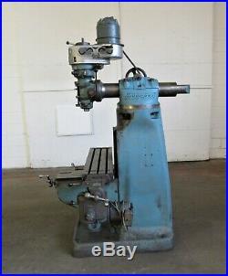 Bridgeport Vertical Ram Type Milling Machine, 9 x 36 Table ID# M-079