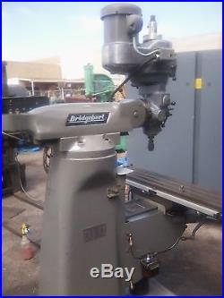 Bridgeport milling machine 9X49 2HP Chromeways power feed DRO