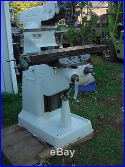 Bridgeport milling machine vertical mill 3 phase 230/460 volt motor tools tool