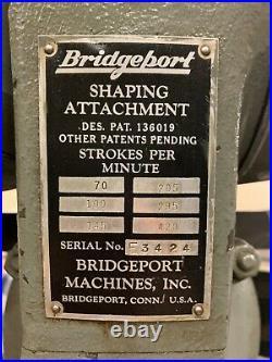 Bridgeport shaping attachment including Bridgeport base
