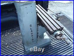 CLAUSING 8520 8525 Bench Mill MILLING MACHINE KNEE COLUMN & TABLE ASSEMBLY