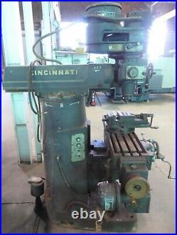 Cincinnati Toolmaster Vertical Mill 1D, 10 x 42 P. F. Tbl, V-Speed, Low Price