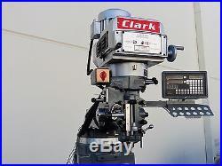 Clark-B3V Milling Machine Variable Speed 220V/440V 3phases 9X49 table, New