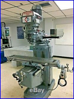 Clausing Kondia FV-1 Variable Speed Vertical Mill, Servo Power Feed