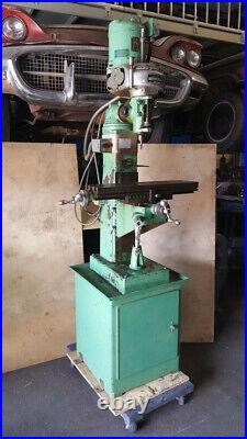 Clausing Milling Machine Model 8512 Master 1/2 HP 110V With Bridgeport M Head