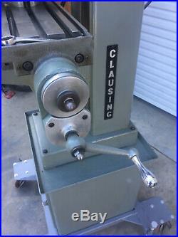 Clausing Mini Mill Milling Machine 8530 Gun Smith Inventor Hardinge Atlas 8520