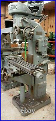 Cleveland Milling Machine No. 1 with power feed. Excellent Condition