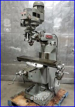 Comet Vertical Mill Milling Machine 3 HP Bridgeport Style Variable Speed