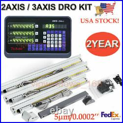 Digital Linear Scale 2Axis/3Axis Readout DRO Display Kit CNC Milling Lathe, US